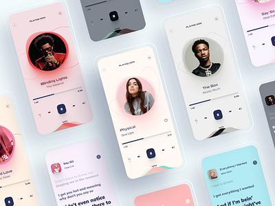 Music App Design-2 mobile app design mobile app mobile ui lyrics music art music player music app music figma mobile application clean app icon 2020 ui ux design