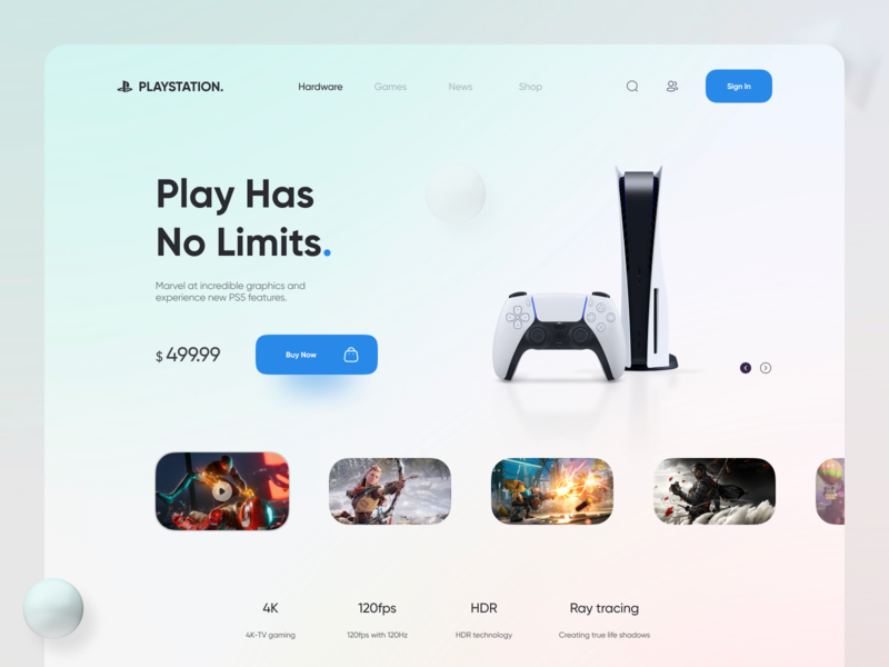 Playstation 5 Webdesign shop controller games 3d web design website playstation5 playstation icon logo branding 2020 figma