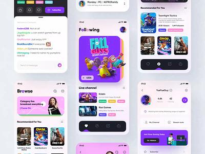 Twitch App Design Part 3 app design application card design streaming app streaming stream redesign twitch mobile ui game mobile figma icon app ui design 2020 ux