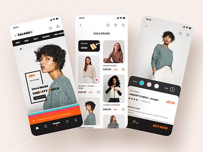 Zalando App Design mobile app mobile ui zalando fashion brand fashion app e-commerce design e-commerce shop e-commerce app e-commerce illustration application mobile figma icon app ui design 2020 ux