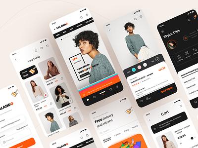 Zalando App Design Part 2 fashion brand fashion zalando shopping app shopping cart ecommerce design ecommerce app ecommerce branding application mobile figma icon app ui design 2020 ux