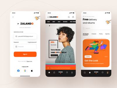 Zalando App Design Part 3 By Yueyue For Top Pick Studio On Dribbble