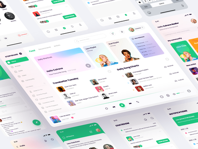StoryBoard App Design Part-2 animation user interface clean community dashboard ui dashboard app dashboard music player music app music mobile ui 2021 application mobile figma icon app ui design ux