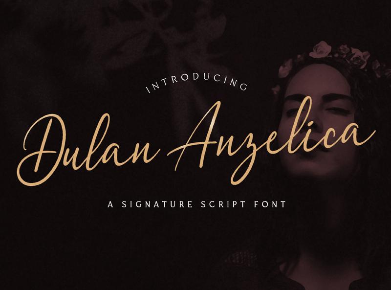 Dulan Anzelica - Signature Script Font