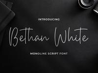 Bethan White - Monoline Script Font