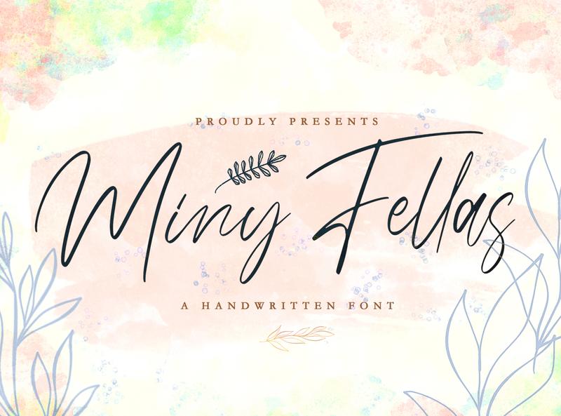 Miny Fellas - Handwritten Font