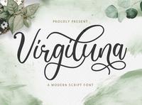 Virgiluna - Modern Calligraphy Font
