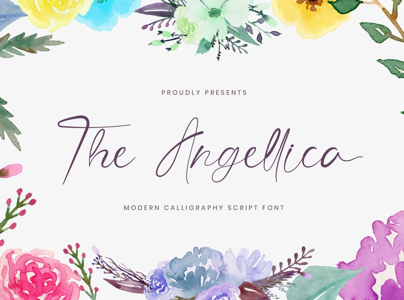 The Angellica - Calligraphy Font