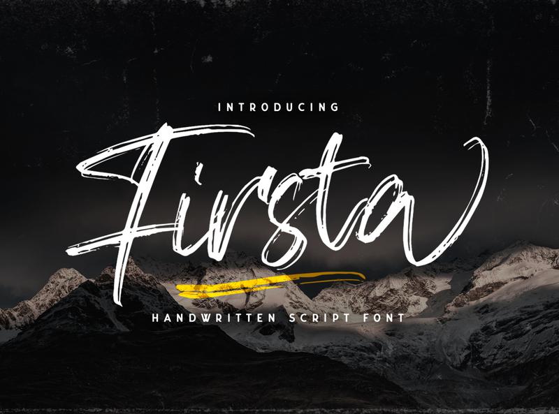 Firsta - Handwritten Font whimsical ligature elegant handdrawn casual stylish classy feminime modern luxury signature logotype handwritten handlettering calligraphy