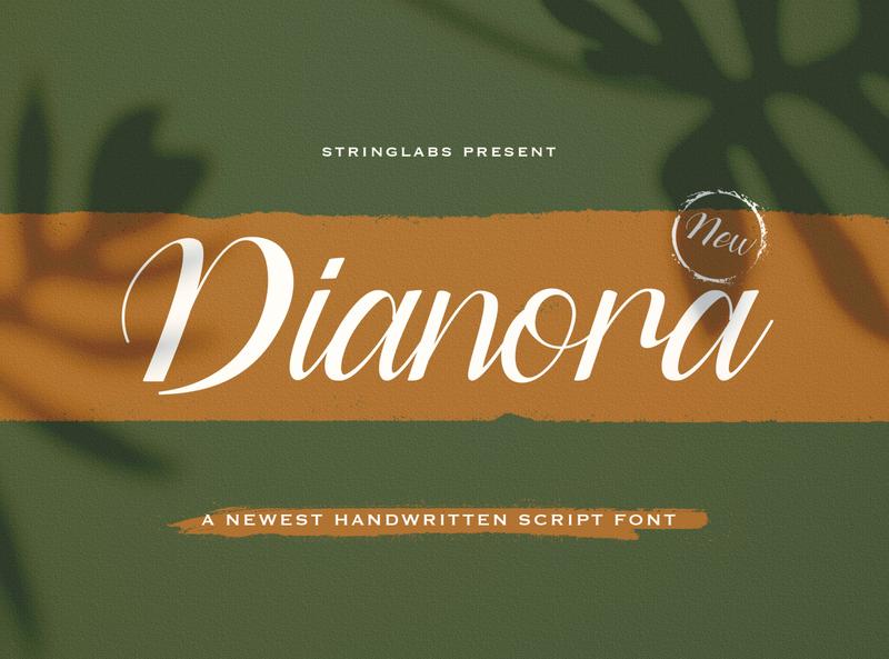 Dianora - Handwritten Font whimsical ligature elegant handdrawn casual stylish classy feminime modern luxury signature logotype handwritten handlettering calligraphy