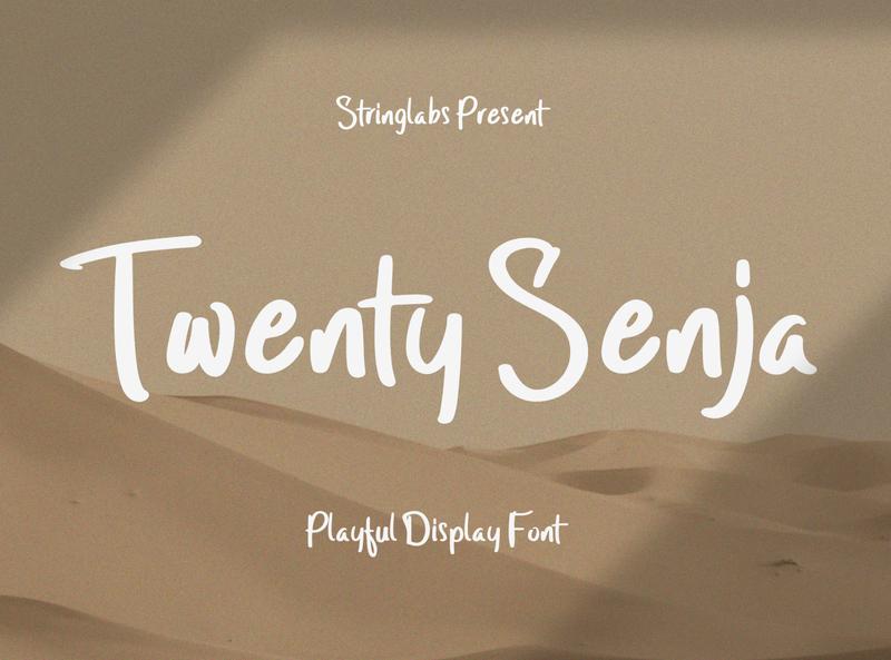 Twenty Senja - Playful Font playground