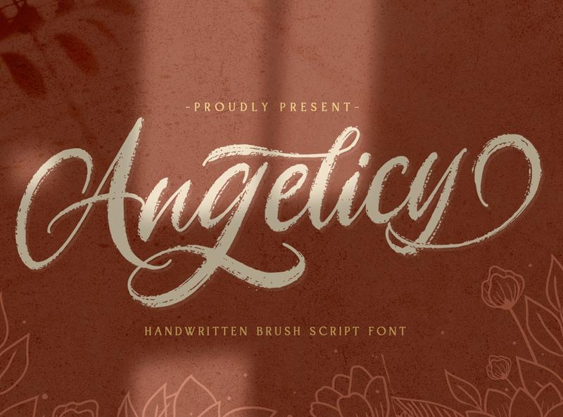 Angelicy - Textured Brush Font hand brush ligature alternates handdrawn casual stylish classy textured modern creative brush logotype handwritten handlettering calligraphy
