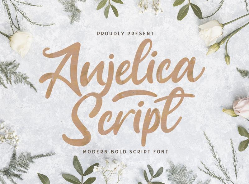Anjelica Script - Bold Script Font hipster sporty 80s classic typeface groovy handdrawn handlettering vintage calligraphy script bold lettering cursive retro
