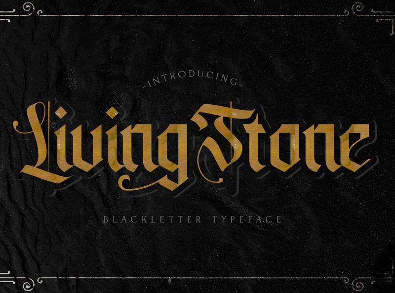 Livingstone - Blackletter Font graffiti brush lettering calligraphy handlettering handdrawn fraktur medieval display decorative gothic tattoo blackletter