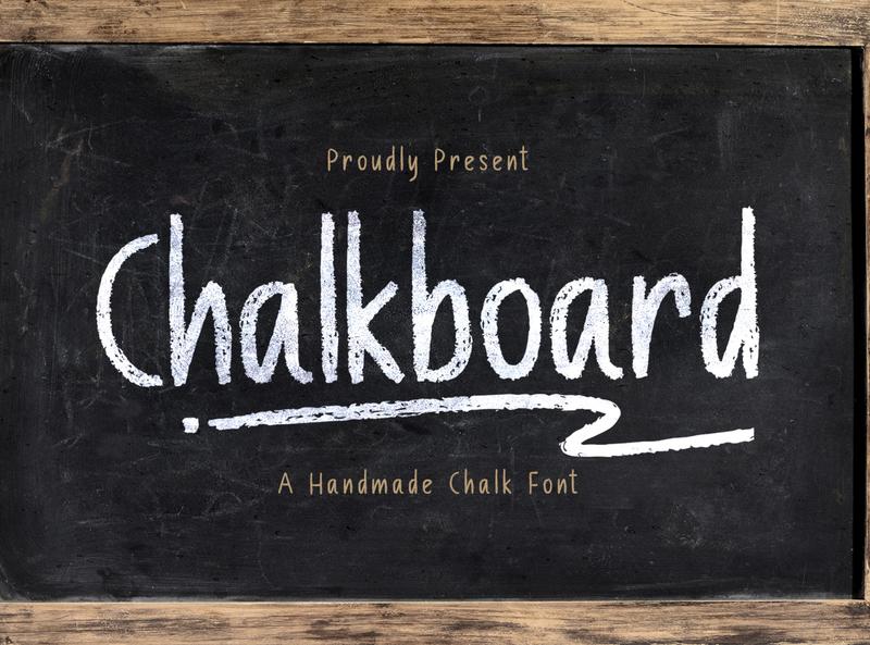 Chalk Board - A Handmade Chalk Font playful textured fun kids school graffiti handdrawn handbrush children handlettering natural chalk authentic decorative