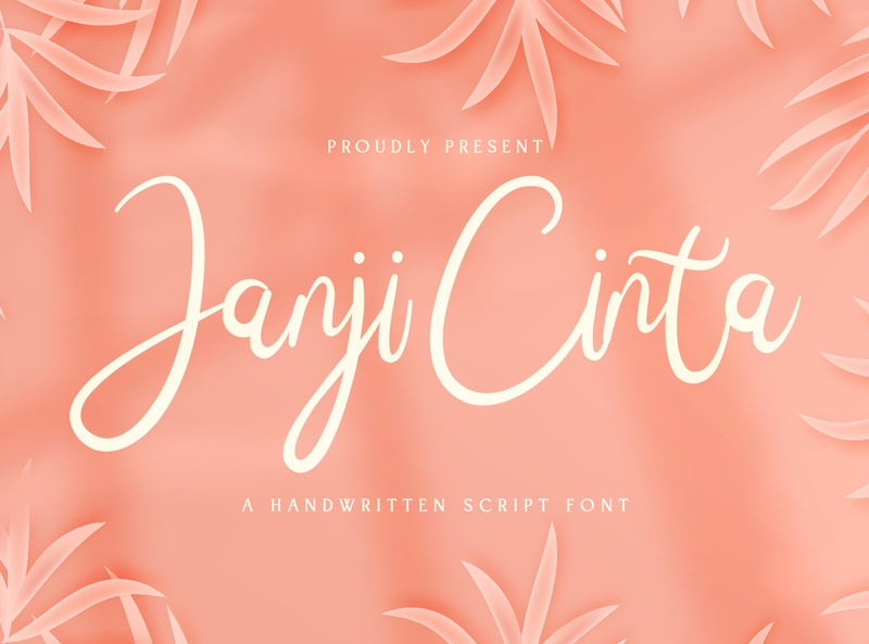 Janji Cinta - Handwritten Font logotype whimsical ligature elegant handdrawn casual stylish lovely feminime modern luxury signature handwritten handlettering calligraphy