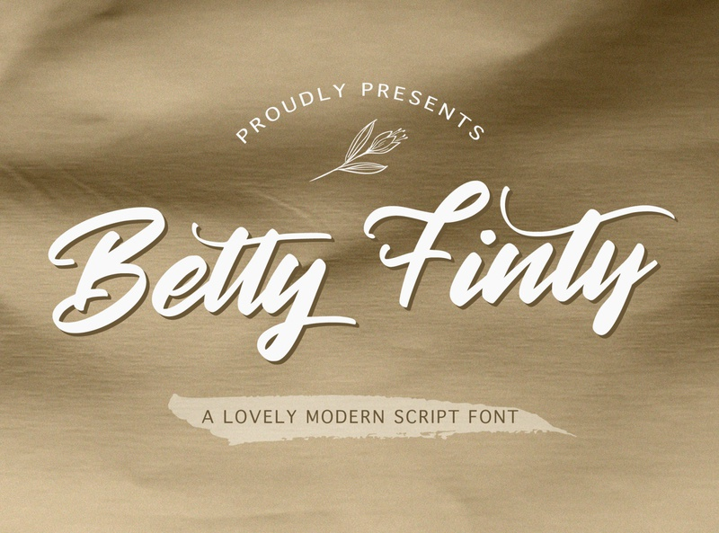 Betty Finty - Modern Script Font alternates whimsical ligature puaencode handdrawn casual vintage 80s modern retro bold handwritten handlettering calligraphy