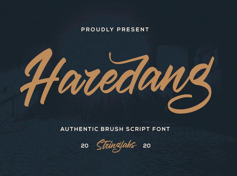 Haredang - Bold Script Font multilingual font groovy stylish logotype handdrawn handlettering vintage retro puaencode brush calligraphy script bold