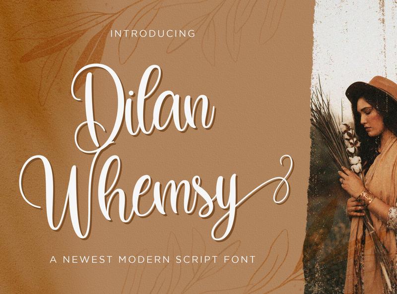 Dilan Whemsy - Modern Script Font script whimsical ligature elegant handdrawn casual stylish lovely feminime modern luxury signature handwritten handlettering calligraphy