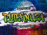 Rhieknuza - Graffiti Font playful font conceptual abstract line shape calligraphy logotype handdrawn handlettering futuristic sansserif sans decorative display