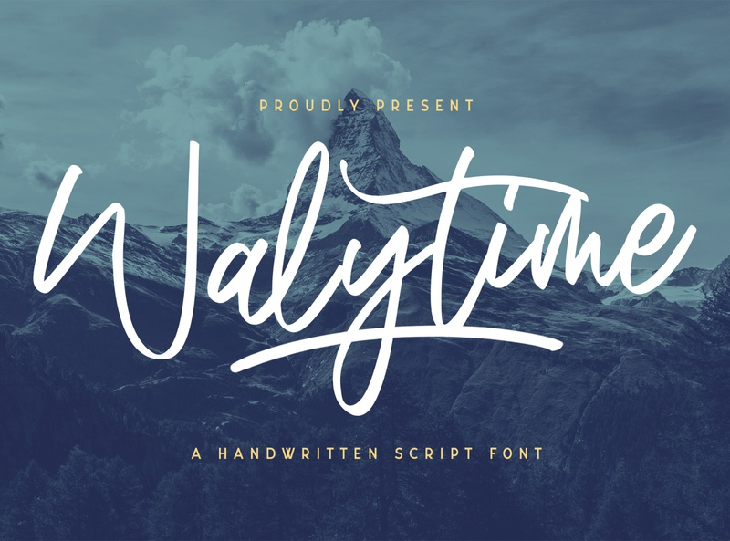 Walytime - Handwritten Font logotype whimsical ligature elegant handdrawn casual stylish lovely feminime modern luxury signature handwritten handlettering calligraphy