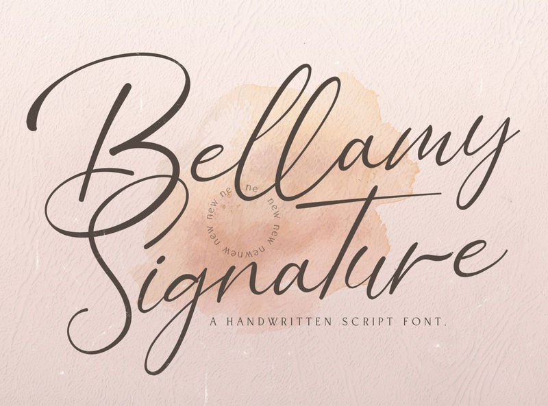 Bellamy Signature - Handwritten Font logotype whimsical ligature elegant handdrawn casual stylish lovely feminime modern luxury signature handwritten handlettering calligraphy