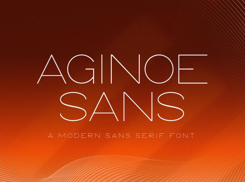 Aginoe - Modern Sans Serif Font typeface readable typography font branding smooth elegant modern regular italic bold variable display sansserif sans
