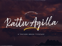 Rattu Aqilla - Textured Brush Font multilingual font textured stylish logotype handdrawn handlettering authentic typography luxury texture brush calligraphy script bold