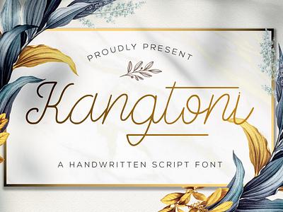 Kangtoni - Monoline Script Font handlettered typography monoline handwritten elegant stylish handwritting thin handlettering modern multilingual signature calligraphy script luxury