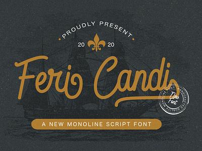 Feri Candi - Monoline Script Font handlettered typography monoline handwritten elegant stylish handwritting bold handlettering modern multilingual signature calligraphy script luxury