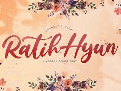 Ratih Hyun - Lovely Calligraphy Font script whimsical ligature elegant handdrawn casual stylish lovely feminime modern luxury signature handwritten handlettering calligraphy
