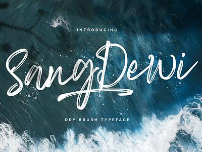 Sang Dewi - Handbrush Script Font multilingual handlettered textured stylish logotype handdrawn handlettering handwritting typography luxury handbrush brush calligraphy script bold