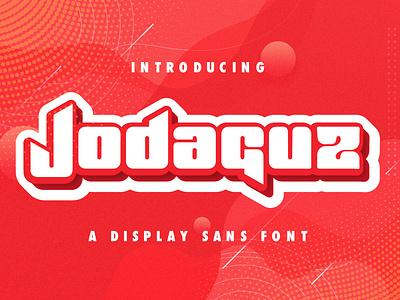 Jodaguz - Display Sans Font modern various esport displaysans multilingual logotype typography scifi techno futuristic decorative display sansserif sans