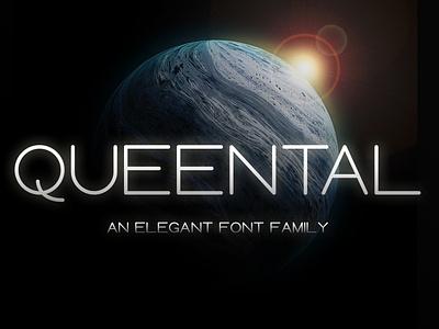 Queental - Elegant Sans Serif Font typeface family scifi logotype book cover trend minimal space font fiction science futuristic sansserif sans