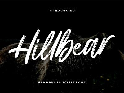 Hillbear - Handbrush Script Font handlettering handdrawn calligraphy boldscript handwritting typography letter brushpen brush handbrush logotype modern script font handwritten