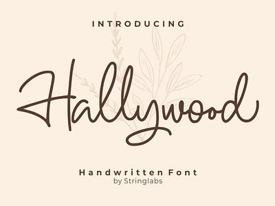 Hallywood - Handwritten Font handlettering handdrawn calligraphy signature handwritting typography letter woff ttf otf logotype modern script font handwritten