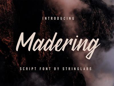 Madering - Classy Script Font handlettering handdrawn calligraphy classy handwritting typography letter woff ttf otf logotype modern script font handwritten