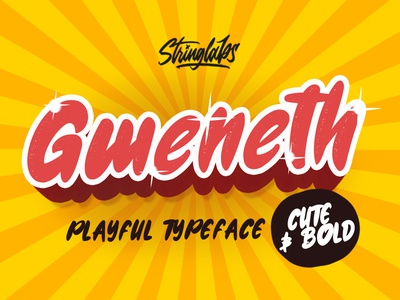Gweneth - Playful Children Typeface playground