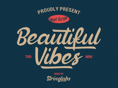 Beautiful Vibes - Bold Script Vintage Retro Font hipster sporty 80s classic typeface wedding handdrawn handlettering vintage calligraphy script bold lettering cursive retro