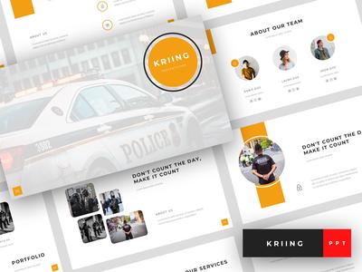 Kriing - Security PowerPoint Template