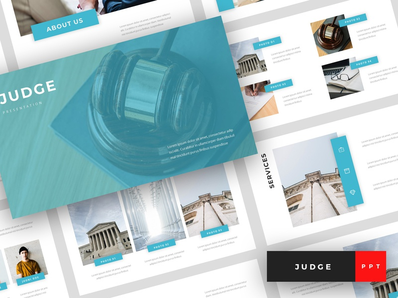 Judge Law Powerpoint Template By Stringlabs On Dribbble