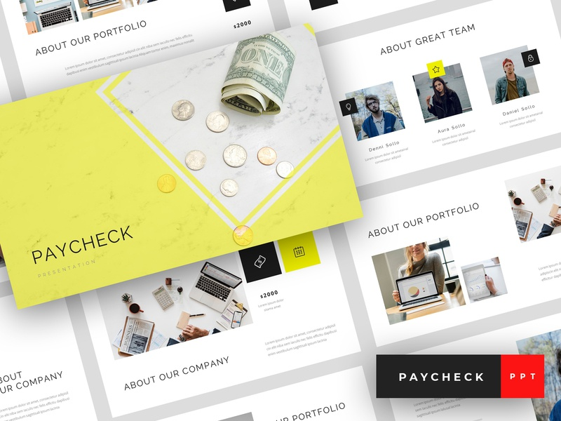 Paycheck - Finance PowerPoint Template by StringLabs on Dribbble
