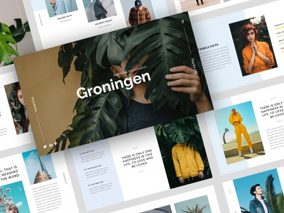 Groningen - Minimal PowerPoint Template minimal tropical traveling greenery plants business botanical photography startup agency corporate company presentation google slides keynote powerpoint design presentation design powerpoint template pptx powerpoint