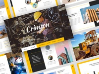 Crimson - Industrial & Factory PowerPoint Template