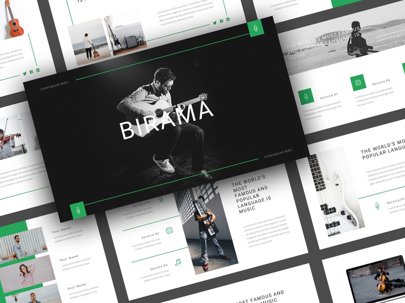 Birama - Music PowerPoint Template by StringLabs on Dribbble