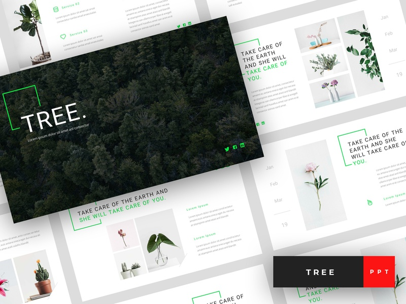 Tree - Green Energy PowerPoint Template by StringLabs on