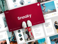 Sneaky – Sneakers PowerPoint Template