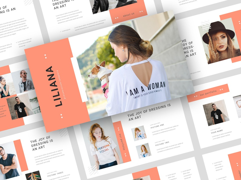 Liliana – Fashion Style PowerPoint Template by StringLabs on
