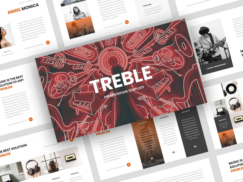 Treble – Music PowerPoint Template by StringLabs | Dribbble | Dribbble