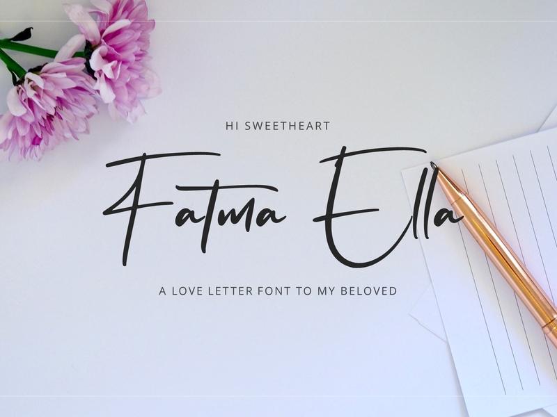Flavellya - Luxury Signature Font handlettering luxury signature calligraphy handwritting typography logotype woff ttf otf logo modern script font handwritten